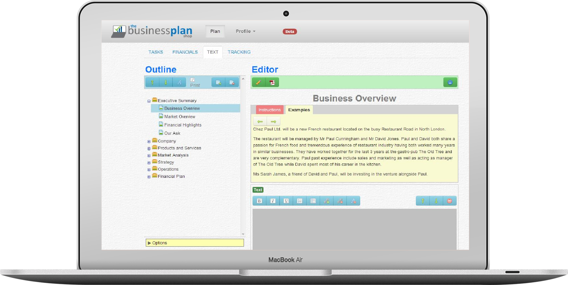 business plan writer software for mac